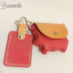"""""""Coins Bag & Mini Octopus Cardholder Set""""  - 100% Handmade of Genuine Lambskin Leather  - Choose Your Own Colour - Free Engraving - Accept Overseas Order  Coins bag size: H2.5 x W3 inches  Buy online: https://www.etsy.com/shop/Beanworksonlinestore"""