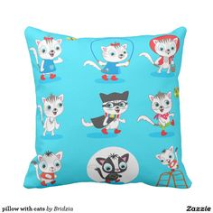 pillow with cats