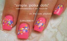 Nail-art by Robin Moses: pink and black diva nails. Dot Nail Art, Polka Dot Nails, Polka Dots, Pink Nail, Trendy Nail Art, Easy Nail Art, Long Black Nails, Short Nails, Long Nails