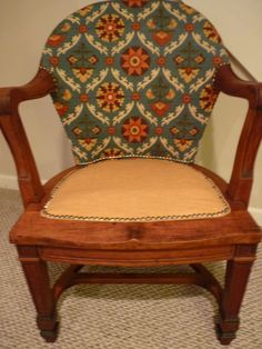 Refinished and reupholstered Armchair — Fixed price $375