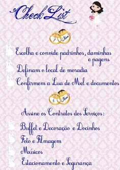 Check List 7 a 6 Meses Antes do Casamento! | Fazendo Minha Festa Casamento