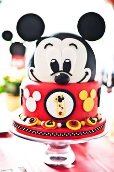 Mickey Mouse birthday cake!. So Yummy!