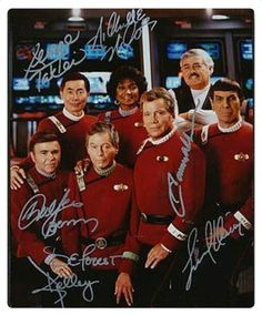 TOS autographed