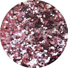 flat nail art glitter shape hexagon cup cake pink