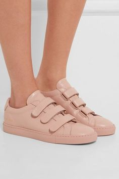 Common Projects - Achilles Three Strap Leather Sneakers - Baby pink - IT36