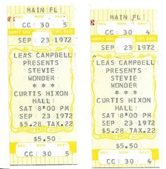 Stevie Wonder Concert Ticket Number Sequence, Admit One, Piece Of Music, Concert Tickets, Stevie Wonder, Better One, The Fool, Stock Photos, The Originals