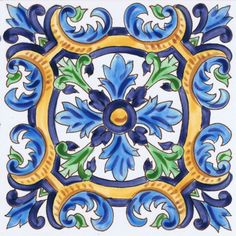 This is such a cute tile for a pool, bathroom and even a kitchen! Custom hand painted water line tile #pooltile #decorativepooltile #handpaintedtile