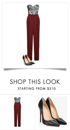 """""""Untitled #329"""" by multifandom01 ❤ liked on Polyvore featuring ESCADA and Christian Louboutin"""