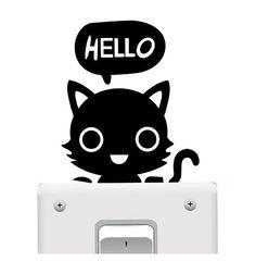 Light Switch Sticker - Black Cat
