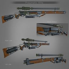 ArtStation - The Order 1895 Pneumatic Rifle, by Mihajlo Kocevski