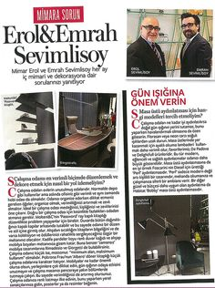 #SevimliMimarlik in the media: In the September issue we are talking about #offices #instylehome #turkey #icmimari #interiors #magazine #coverage #design