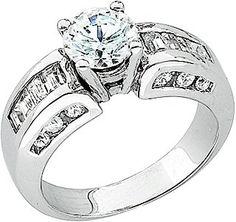 14K White Gold Engagement Ring.    http://www.thediamondstore.com/products/engagement-rings/14k-white-gold-semi-mount-engagement-ring-%7C-61285/6-632
