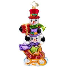 Christopher Radko Glass Snowman Dashing Through the Snow Christmas... (£42) ❤ liked on Polyvore featuring home, home decor, holiday decorations, glass xmas ornaments, glass snowman christmas ornaments, snow ornaments, snowman christmas tree ornaments and glass snowman ornament