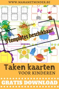 Gratis download: 9 takenkaarten voor jonge kinderen om te helpen in het huishouden.