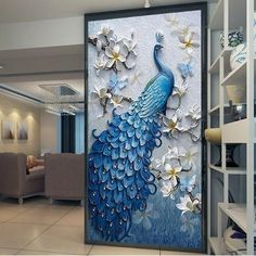 Cheap papel de parede Buy Quality papel de parede directly from China de parede Suppliers: Custom Photo Wallpaper Murals Embossed Peacock Flower Hallway Entrance Hall Wall Decor Mural Wall paper Papel De Parede Peacock Wallpaper, Peacock Wall Art, 3d Wallpaper, Photo Wallpaper, Bedroom Wallpaper, Ceiling Murals, 3d Wall Murals, Art Mural, Wall Art