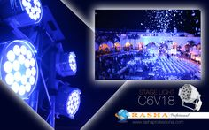 Our Powerfull stage can lights make sure to create the right ambiance for your event, available in three models as well as in exterior versions.  Model Shown:C6V18  http://www.rashaprofessional.com/hexv18.html #rashaprofessional #rasha #light #color #RGBA #stage #namm #proud #member #lighting #events #lights #concerts #theater #letslightupyourworld #led #uplights #dj #party #clubs #architecture #landscape #music  #wedding