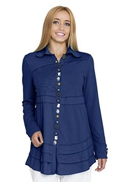 Neon Buddha Women's Sage Shirt, Deep Royal, X-Large * Learn more by visiting the image link.