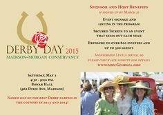May 2, 2015 - 5th Annual Derby Day event benefitting the Madison-Morgan Conservancy, Georgia's first and only county-wide conservancy (our only fundraiser)  http://www.mmcgeorgia.org/events/derby-day/