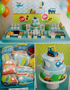 DIY Printable Collection TRANSPORTATION PARTY by BelvaJune on Etsy