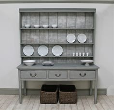 Distressed Georgian Pine Dresser - For Sale Shabby Chic Decor Living Room, Shabby Chic Bedrooms, Shabby Chic Homes, Shabby Chic Style, Shabby Chic Furniture, Pine Dresser, Dressers For Sale, Distressed Furniture, Interior Styling
