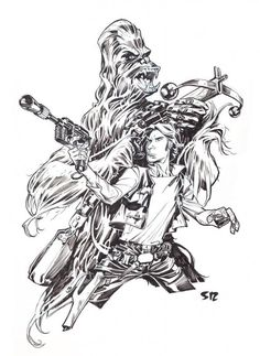 han-and-chewie-commission-by-stephane-roux_zps5f57d80f.jpg (746×1024)