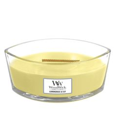 WoodWick Ellipse Scented Candle, Lemongrass andamp; Lily* Click image for more details. (This is an affiliate link) #jarcandles