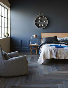 Dark Gray Blue Bedroom a moody blue makeover | moody blues, dark blue bedrooms and blue