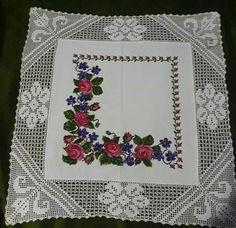 Cross Stitch Flowers, Cross Stitch Patterns, Crochet Patterns, Crochet Tablecloth, Handmade Decorations, Cross Stitching, Shabby Chic, Owl, Tapestry