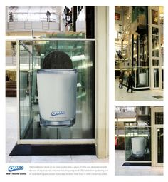 """Oreo: Elevator by DraftFCB — """"The traditional dunk of an Oreo cookie into a glass of milk was dramatized with the use of a panoramic elevator in a shopping mall. This attention-grabbing use of new media gave us one more way to show that Oreo is milk's favorite cookie."""""""