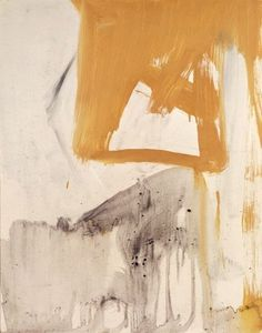 Franz Kline - Ochre and Grey Composition 1955 oil and paper