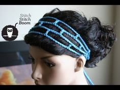 Crochet Tutorial: Mesh Headband (Great for beginners! DISCLAIMER: I definitely know crochet terminology. However, when filming this video I kept saying stitch when I meant chain. It shouldnt be too confusing since Im visually showing you what to do, but Crochet Bookmark Pattern, Crochet Bookmarks, Crochet Gifts, Free Crochet, Knit Crochet, Beginner Crochet, Crochet Hair Accessories, Crochet Hair Styles, Crochet Hairband