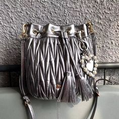 a467daff113c Miu Miu Matelasse Nappa Leather Bucket Bag Size  x x cm Notice  Not include  the bag charm Detachable