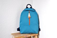 NEW canvas backpack, cotton rucksack, backpack purse, hipster backpack, canvas bag, bag with horse hair tassel by GalelBags on Etsy