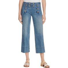MICHAEL Michael Kors 5458 Womens Blue Flare Denim Cropped Jeans 16 BHFO    eBay