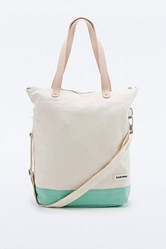 009ebc31097 Eastpak Canvas Shopper in Cream and Mint - Urban Outfitters Urban  Outfitters