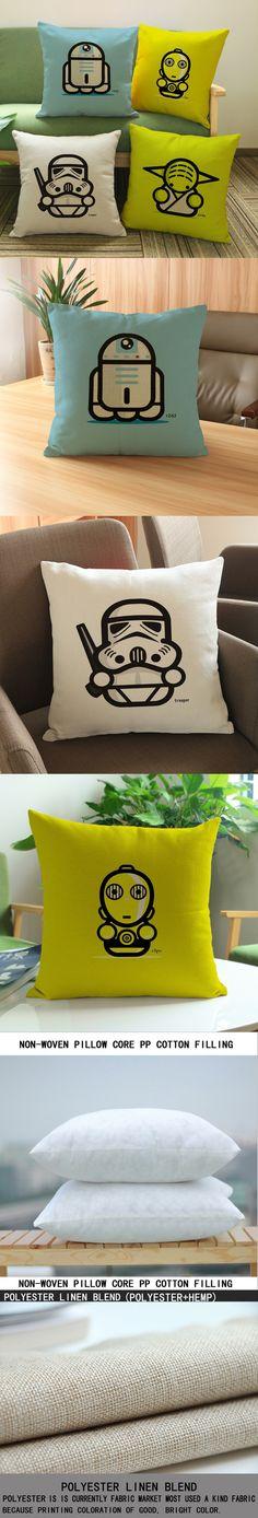 luxury home decoration outdoor Car sofa seat cushion cushions pillow Star Wars Yoda 45*45cm/17.7*17.7' Pattern printing $6.66