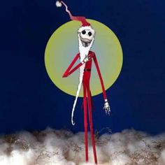 Jack skeleton as santy claws