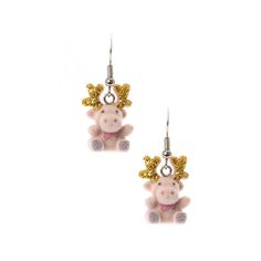 Fuzzy Reindeer Drop Earrings, Party Jewellery, all, Jewellery, Secret Santa, Earrings, Novelty, Stocking Fillers, Secret Santa, Party, CHRISTMAS, Stocking Fillers Fashion trends, accessories and jewellery for young women