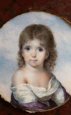 PORTRAIT MINIATURE ... EN FRANCE  : PORTRAIT MINIATURE ENFANT PAR JEAN BAPTISTE ISABEY...