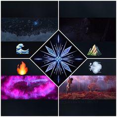 four elements: water, earth, fire, wind Disney Pop, Arte Disney, Disney Frozen Elsa, Disney Fan Art, Disney Memes, Disney Films, Disney And Dreamworks, Frozen Wallpaper, Cute Disney Wallpaper