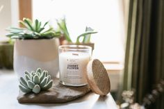 Desert Flower, our new Limited Edition summer scent!   It's delicate and fresh and pairs perfectly with rosés and margaritas and hot summer days.   The main notes of this fragrance are aloe, ozone, and chrysanthemums for a slightly sweet but also earthy and herby scents that bring a lightness during the dog days of summer.   Available in wooden and classic wick, diffuser, room spray, and wax melts.  . #summertime #ilovesummer #3cheersforsummer #summertimegoals #summersimplified Summer Scent, Desert Flowers, Home Scents, Home Fragrances, Wax Melts, Soy Candles, Summer Days, Deserts, Margaritas