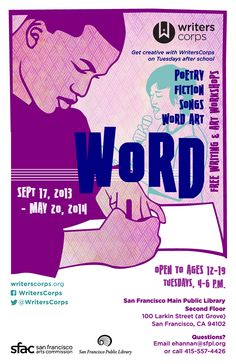 This free youth writing workshop at the San Francisco Public Library starts Sep 17, 2013!