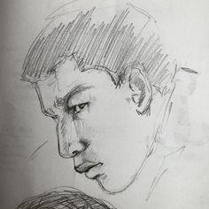 And Finn. #dailydoodle #sketchaday #sketchbook #faceaday #graphite #theforceawakens #starwars #finn #fn2187