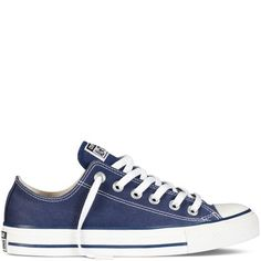 Converse Men's Low Chuck Taylor Navy Canvas Sneaker D(M) US. Converse chuck taylors are known to run one size big. Canvas upper with rubber sole. Available in navy color. Classic look. Available in optical white color. Galaxy Converse, Converse All Star, Converse Navy, Converse Chucks, All Star Shoes, Converse Chuck Taylor All Star, Chuck Taylor Sneakers, Converse Trainers, Girls Shoes