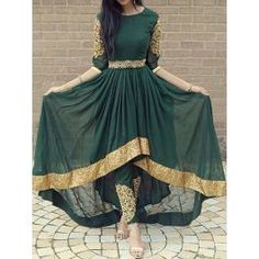 FatimaBi Plus size Fashion Indian Wedding Embroidery Green Anarkali Kameez Dress Indian Attire, Indian Wear, Stylish Dresses, Fashion Dresses, Stylish Outfits, Fashion Top, Fashion Night, Afghan Dresses, Desi Clothes