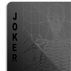 A deck of cards entirely in black. The design, particularly for Jokers, Kings, Queens and Jacks, also add another unique touch. Play cards with design and style.
