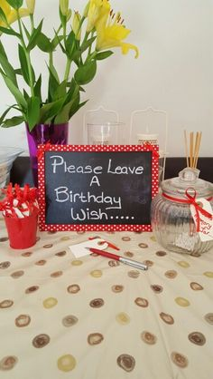 Leave a birthday wish in a memory jar!!! All ready for nans 80th birthday
