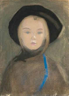HELENE SCHJERFBECK. Girl with Blue Ribbon, early 20th century.