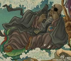 What If the Avengers Became the 8 Taoist Immortals of Chinese Mythology? Nick Fury holds guns whereas the Chinese deity he replaces would be holding a feather fan. And that fan could do more than any number of guns. http://www.visiontimes.com/2015/04/09/what-if-the-avengers-became-the-8-taoist-immortals-of-chinese-mythology.html