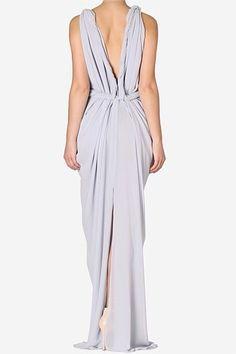 white silk draping dress - Cerca con Google